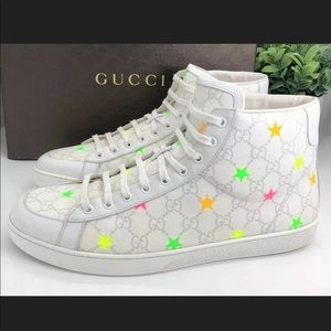 Gucci Auth GG Stars High Top Sneakers W/ Box ⭐️